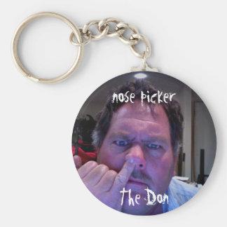 Nose Picker Basic Round Button Keychain