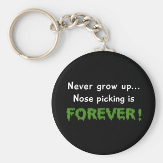 Nose Picking Forever Basic Round Button Keychain
