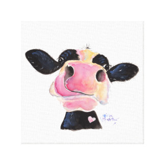 Nosey Cow 'Jammie Jessie' Box Canvas Print