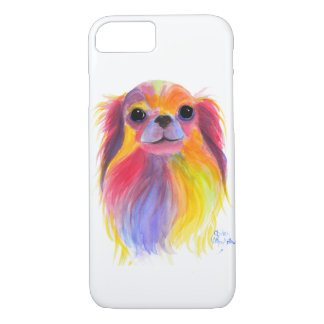 Nosey Dog Chihuahua ' TiLLY ToTS ' by Shirley Mac iPhone 8/7 Case