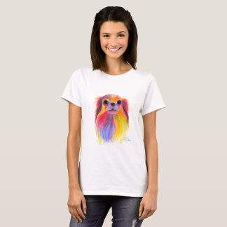 Nosey Dog Chihuahua ' TiLLY ToTS ' by Shirley Mac T-Shirt
