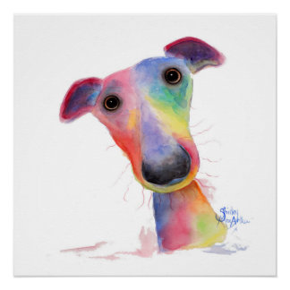 Nosey Dog 'Hank' by Shirley MacArthur Perfect Poster