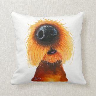 Nosey Dog ' SMELLS LiKe SuNSHiNe ' by Shirley Mac Throw Pillow