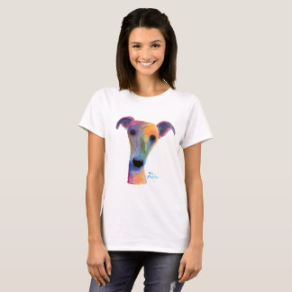 Nosey Dog Whippet Greyhound 'PANSY' Ladies T-Shirt