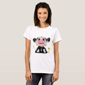 Nosey Friesian Cow ' DAFFODIL ' T-SHIRT