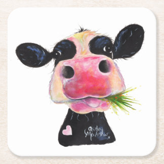 Nosey Friesian Cow ' HURLEY BURLEY ' Coasters