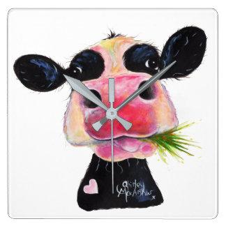 Nosey Friesian Cow ' HURLEY BURLEY ' Wall Clock