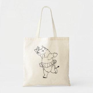 Noshörning Ballerina Tote Bag