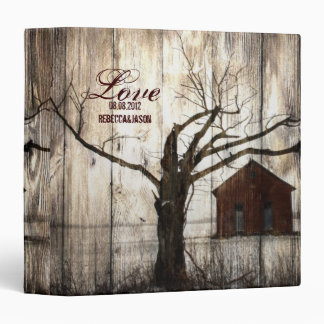 nostalgia barnwood western farm country wedding vinyl binder