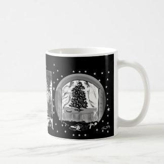 Nostalgia Christmas cup painted Classic White Coffee Mug