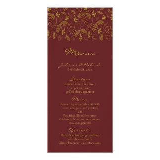 Nostalgia | Fall Wedding Menu Full Colour Rack Card