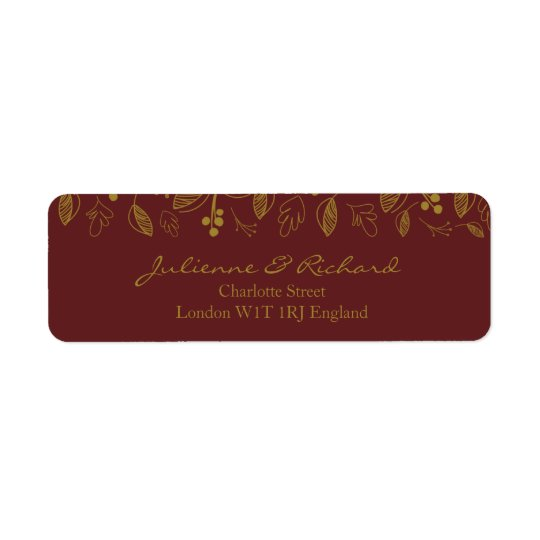 Nostalgia | Fall Wedding Return Address Labels