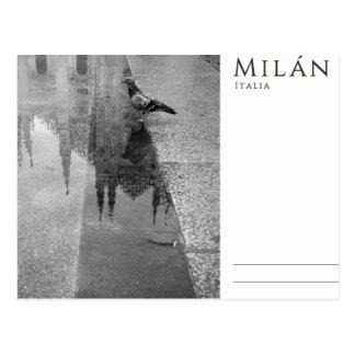 Nostalgia of Milan Postcard
