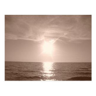 Nostalgia Sunset Over Lake Erie Postcard