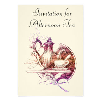 Nostalgic Afternoon Tea Invitation