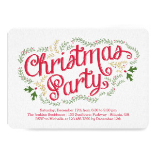 Nostalgic Christmas Party Invitation