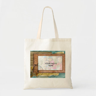 Nostalgic Cycling Themed Photo Budget Tote Bag