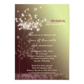 Nostalgic Dandelions Wedding Rehearsal Dinner Card