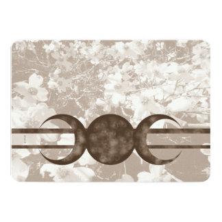 Nostalgic Dogwood Triple Moon Handfasting Grays Card