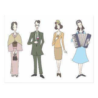 Nostalgic fashion postcard