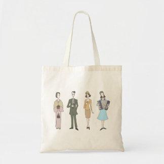 Nostalgic fashion tote bag