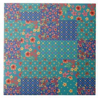 Nostalgic Faux Patchwork Pattern Ceramic Tile
