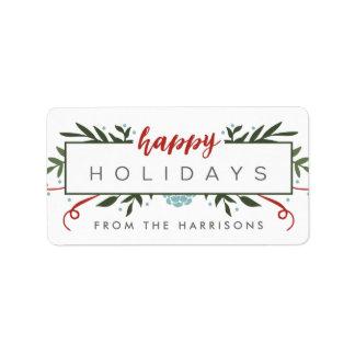 Nostalgic Holiday Personalized Gift Tags