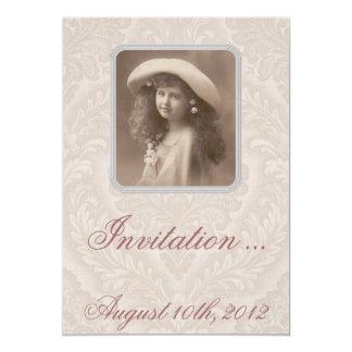 Nostalgic Invitation: Remembering - Victorian Girl Card
