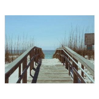Nostalgic Old Beach Access Pensacola Beach Postcard