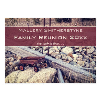 Nostalgic Red Wagon Family Reunion Invitation