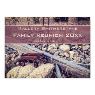 Nostalgic Red Wagon Family Reunion Invitation