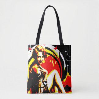 Nostalgic Seduction - Crimson Moon Tote Bag