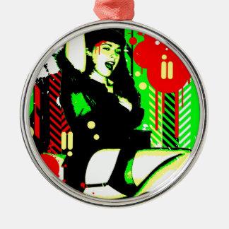 Nostalgic Seduction - Forever Pinup I Metal Ornament