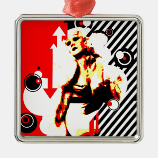 Nostalgic Seduction - Glamour Gal Metal Ornament