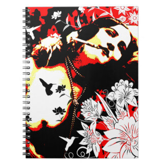 Nostalgic Seduction - Mischievous Hummingbird Spiral Notebook