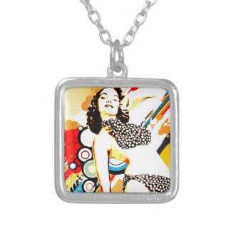 Nostalgic Seduction - Polka Dottie Silver Plated Necklace