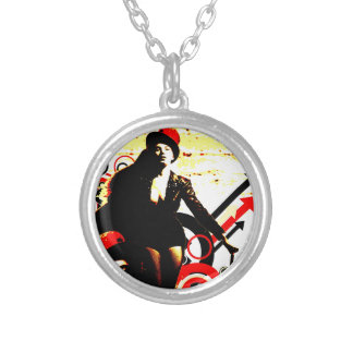 Nostalgic Seduction - Prurient Performer Silver Plated Necklace