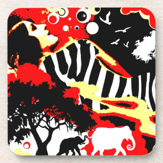 Nostalgic Seduction - Safari Dreams Beverage Coasters