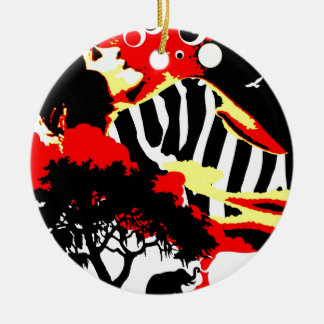 Nostalgic Seduction - Safari Dreams Ceramic Ornament