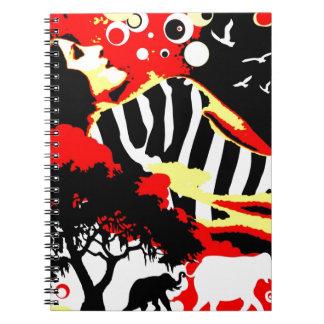 Nostalgic Seduction - Safari Dreams Spiral Notebook