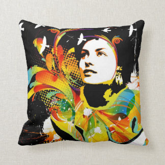 Nostalgic Seduction - Soul Explosion Dark Throw Pillow
