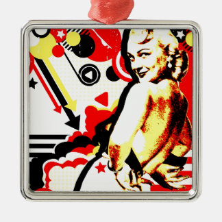 Nostalgic Seduction - Striptease Metal Ornament