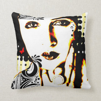 Nostalgic Seduction - Subjected to Ink Throw Pillow