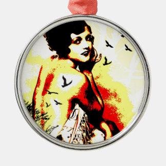 Nostalgic Seduction - Timeless Flight Metal Ornament
