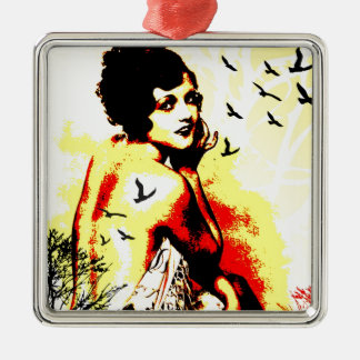Nostalgic Seduction - Timeless Flight Metal Ornament