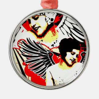Nostalgic Seduction - Vexed Angel Metal Ornament
