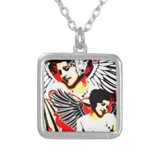 Nostalgic Seduction - Vexed Angel Silver Plated Necklace