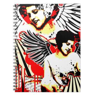 Nostalgic Seduction - Vexed Angel Spiral Notebook