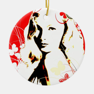 Nostalgic Seduction - Wistful Flutter Ceramic Ornament