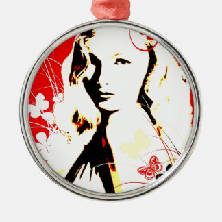 Nostalgic Seduction - Wistful Flutter Metal Ornament